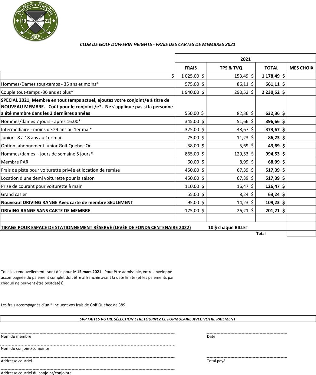 dufferin heights Membership-2021-fr